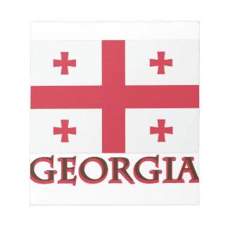 ジョージアの旗 ノートパッド