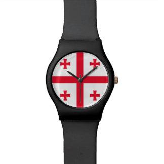 ジョージアの旗 腕時計