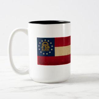 ジョージアの旗VINTAGE.png ツートーンマグカップ
