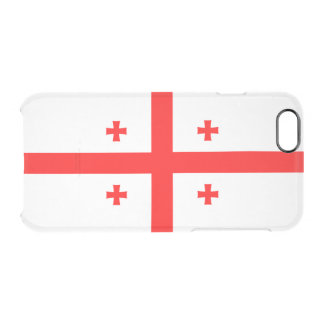 ジョージアの澄んなiPhoneの場合の旗 クリアiPhone 6/6Sケース
