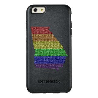 ジョージアの虹のプライドの旗のモザイク オッターボックスiPhone 6/6S PLUSケース