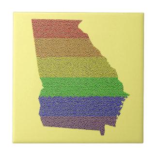 ジョージアの虹のプライドの旗のモザイク タイル