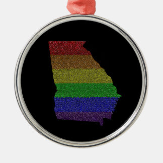 ジョージアの虹のプライドの旗のモザイク メタルオーナメント