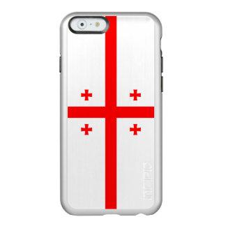 ジョージアの銀製のiPhoneの場合の旗 Incipio Feather Shine iPhone 6ケース