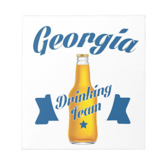 ジョージアの飲むチーム ノートパッド