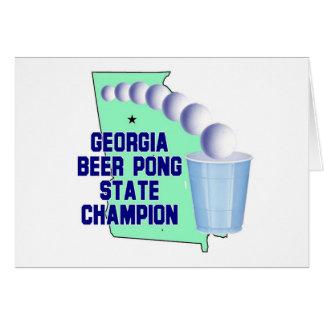 ジョージアビールPONGチャンピオン カード