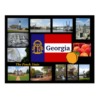 ジョージアモモの州の郵便はがき ポストカード