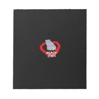 ジョージア州のための蝋燭のハートのデザイン ノートパッド