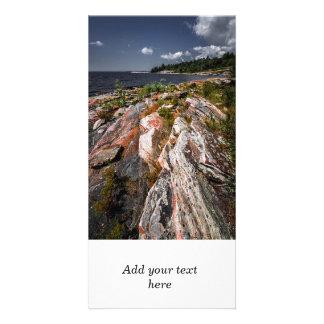 ジョージア湾の岩が多い海岸 カード