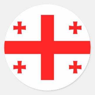 ジョージア(国)のステッカーの旗 ラウンドシール