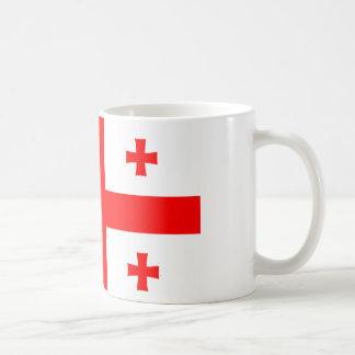 ジョージア(国)の旗のマグ コーヒーマグカップ