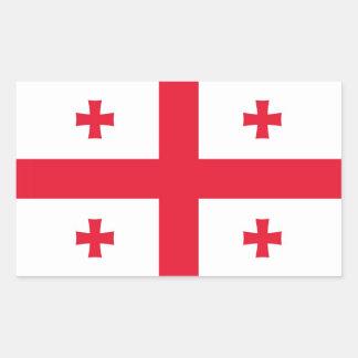 ジョージア(国)の旗 長方形シール