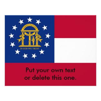 ジョージア、米国の旗が付いているフライヤ チラシ