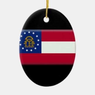 ジョージア(米国)の旗 セラミックオーナメント