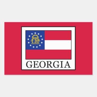 ジョージア 長方形シール