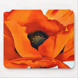 ジョージアO'Keefe圧倒する赤いケシの花 マウスパッド