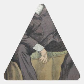 ジョージウィリアムPierrepont Bentinckの風刺漫画 三角形シール