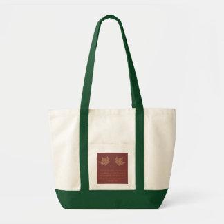 ジョージエリオットの秋の引用文のバッグ トートバッグ