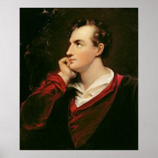 ジョージゴードンByronの第6男爵のポートレート ポスター