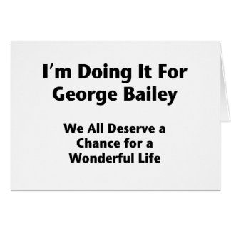 ジョージベイリーのためのそれをすること -- Occupy wall street カード