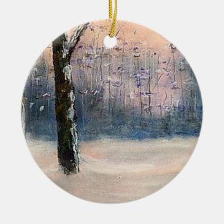 """""""ジョージロジャースのクリスマスのオーナメントの雪"""" セラミックオーナメント"""