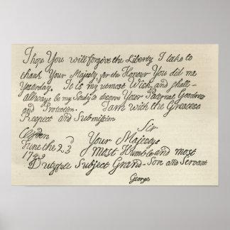 ジョージ三世からの彼の祖父への手紙 ポスター