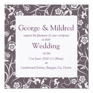 ジョージ及びMildredの招待状 13.3 スクエアインビテーションカード