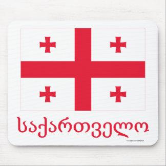 ジョージ王朝の名前のジョージアの旗 マウスパッド