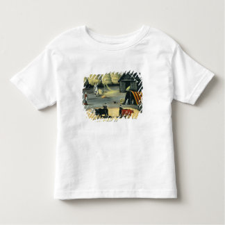 ジョージ王朝の国の床の脱穀 トドラーTシャツ