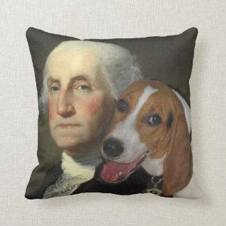 ジョージ・ワシントンおよび彼の孤の猟犬 クッション