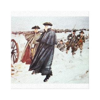 ジョージ・ワシントンおよび男爵フォンシュトイベン キャンバスプリント