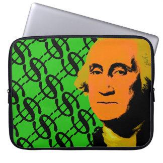 ジョージ・ワシントンのドル記号のポップアート ラップトップスリーブ
