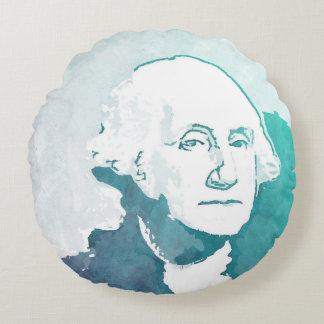 ジョージ・ワシントンのポップアートのポートレート ラウンドクッション