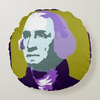 ジョージ・ワシントンのポップアート第1 ラウンドクッション
