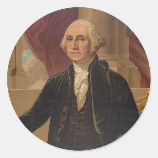 ジョージ・ワシントンのポートレート ラウンドシール