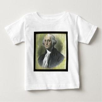 ジョージ・ワシントンのヴィンテージの幻灯のスライド ベビーTシャツ