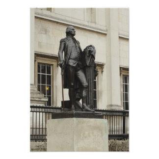ジョージ・ワシントンの彫像 フォトプリント