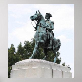 ジョージ・ワシントンの彫像、ワシントン州の円 ポスター