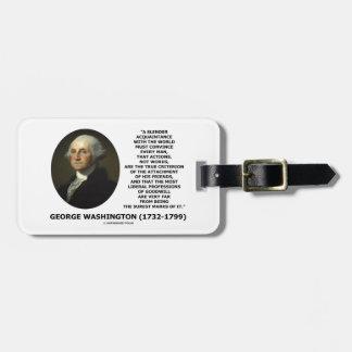 ジョージ・ワシントンの行為のない単語は規準を調整します ラゲッジタグ