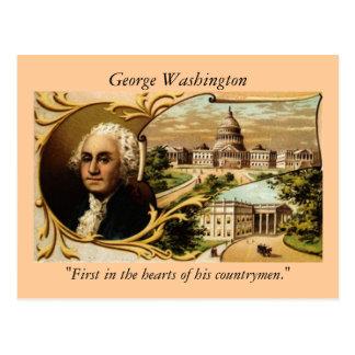ジョージ・ワシントンの郵便はがき ポストカード