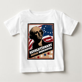 ジョージ・ワシントンの革命的な幼児Tシャツ ベビーTシャツ