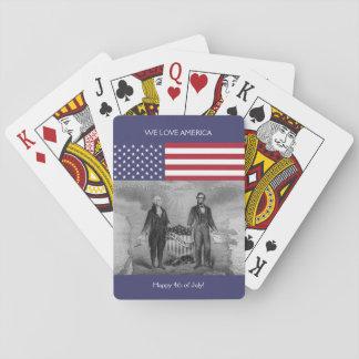 ジョージ・ワシントンエイブラハム・リンカーンの米国旗米国 トランプ