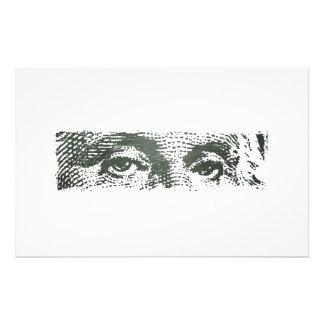 ジョージ・ワシントンドル札の現金お金 便箋
