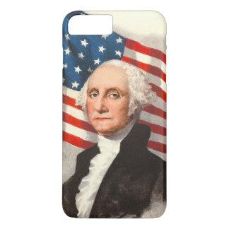 ジョージ・ワシントン愛国心が強い米国の旗7月4日 iPhone 8 PLUS/7 PLUSケース