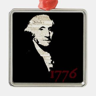 ジョージ・ワシントン- 1776デザイン メタルオーナメント