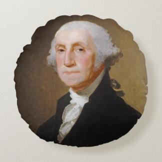 ジョージ・ワシントン、c.1821 (キャンバスの油) ラウンドクッション