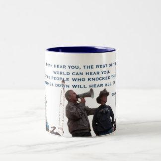 ジョージ・w・ブッシュの引用文のマグ ツートーンマグカップ