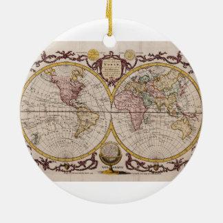 ジョージAugustus Baldwyn著世界の1782地図 セラミックオーナメント