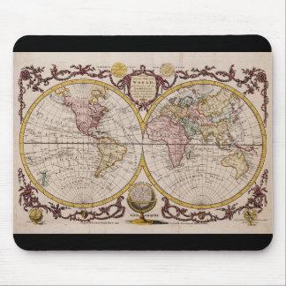 ジョージAugustus Baldwyn著世界の1782地図 マウスパッド