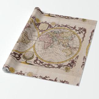 ジョージAugustus Baldwyn著世界の1782地図 ラッピングペーパー